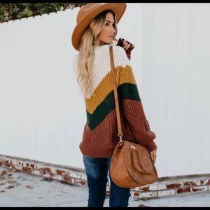 Vici Sweaters - Humanity Chevron Knit Vici Sweater